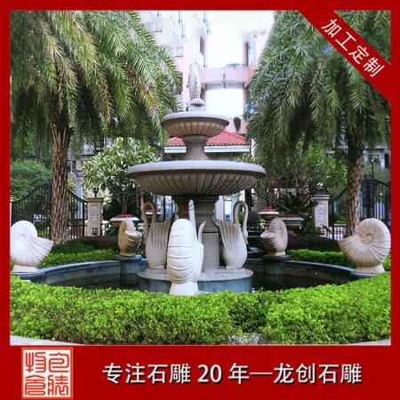 石雕喷泉现货 厂家供应双层石雕喷泉