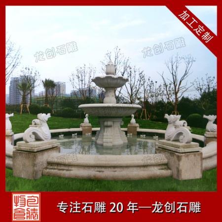 石雕城市喷泉 户外水钵喷泉现货