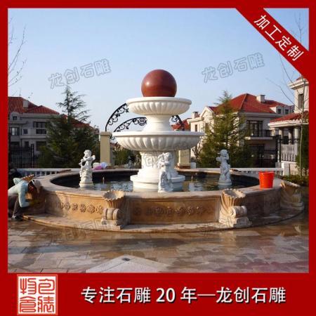 石雕景观喷泉厂家 花岗岩喷泉水钵