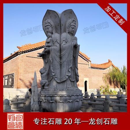 口碑好的三面观音石雕像厂家 供应石雕观音雕塑