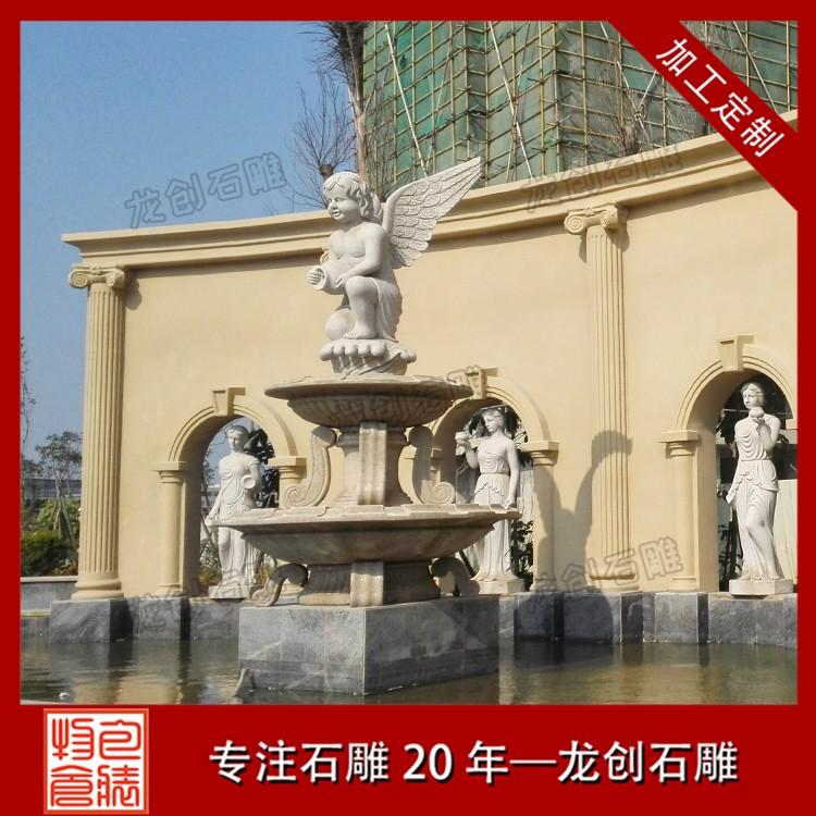 可靠的石材喷泉厂家 石雕喷泉水景设计